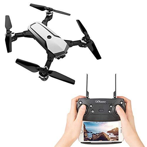 LYHLYH RC Drone Positionnement Quadcopter, Photographie aérienne caméra HD Long Temps de vol Auto Retour Accueil Suivez-Moi l'altitude et 2.4G WiFi Transmission,Blanc