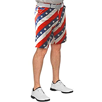Royal & Awesome Men s Patterned Golf Shorts Pars and Stripes 32W