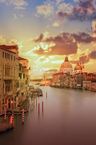 The Grand Canal at Sunset Venice Italy Photo Photograph Cool Wall Decor Art Print Poster 24x36