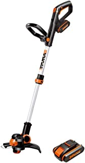 WORX WG163E.2 20V 2-in-1 Trimmer/Edger with Command Feed, Battery and Charger Included, Black