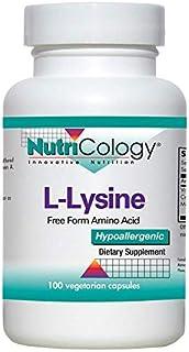 NutriCology L-Lysine 500 mg 100 Vegetarian Caps