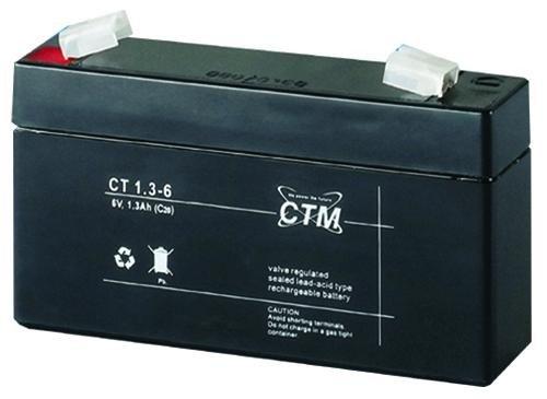Blei-Gel-Trocken Akku CT 1,3-6 (1.3Ah, 6V) Bleiakku CTM