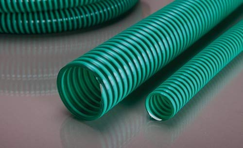 """Pondflat 5m Saugschlauch & Druckschlauch 32mm (1¼\"""") grün-transparent Teichschlauch"""