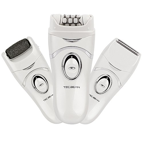 3-IN-1 Electronic Epilator Callus Remover Shaver Multi-function for Leg Body and Foot Skin Beauty Care for Silky Smooth Touching Feeling with 2 Speed Setting
