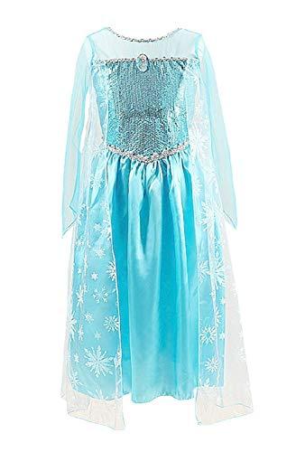 Maat 120-4/5 jaar - kostuum - carnaval - halloween - elsa - meisje - michelle frozen
