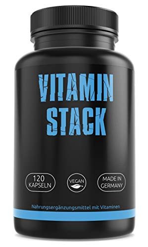 Multivitamin - Komplex – Laborgeprüft - Hochdosiert – Multivitamin – kombiniertes Vitamin-Präparat mit allen wichtigen Vitaminen - vegan - Made in Germany — 120 Kapseln für 4 Monate