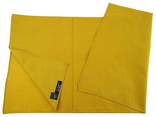TigerTie TigerTie Damen Nickituch Halstuch in ocker einfarbig Uni - Tuchgröße 60 x 60 cm - 100% Baumwolle