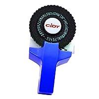 KESOTO プリンターラベル エンボス加工 ラベルメーカー テプラ 3D効果 テープカートリッジ 手動 DIY プリンター - 青