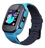Kids Smart Watch Teléfono LBS Tracker con Dos-Waycall, SOS, Linterna, Reloj De Alarma, Pantalla Táctil LCD, Regalos De Cumpleaños para Niños 3-12Y,Azul