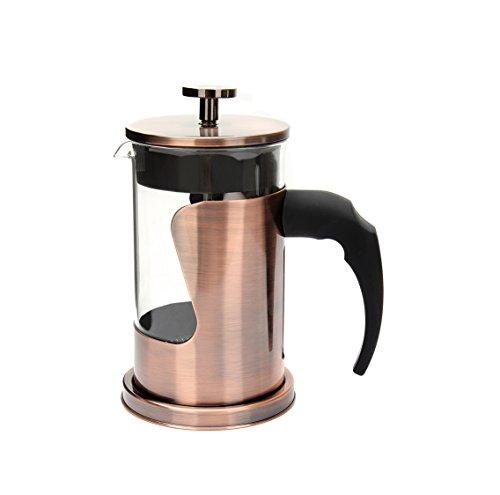 Presse À Café Française, Acier Inoxydable Résistant À La Chaleur Borosilicate Verre Café Cafetière Avec Filtre, Bronze 2Cup 12 Oz 350Ml,Bronze,4Cup