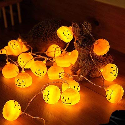 ZLMAY Battery Operated 4M Zucca di Halloween LED luci della Stringa Halloween Party Vacanze di Natale 3D Zucca Lanterne Light Strip