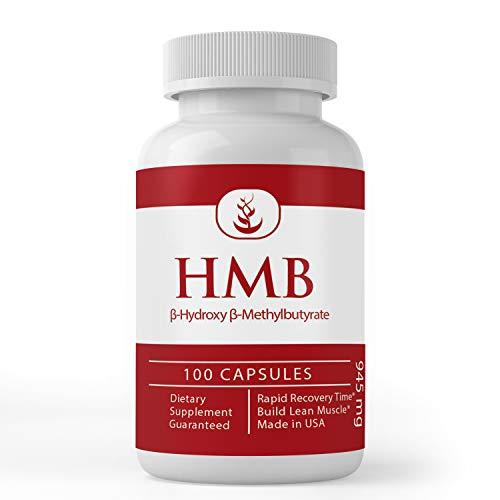 HMB (100 Capsules) 100% Pure & Potent, No Fillers, Non-GMO & Gluten-Free, Made in USA (945 mg Serving)