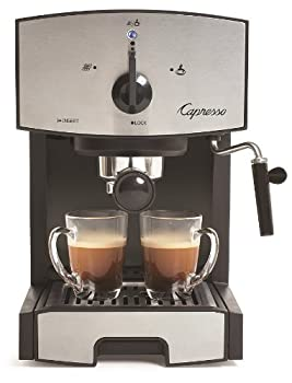 Capresso 117.05 Stainless Steel Pump Espresso and Cappuccino Machine EC50 Black/Stainless