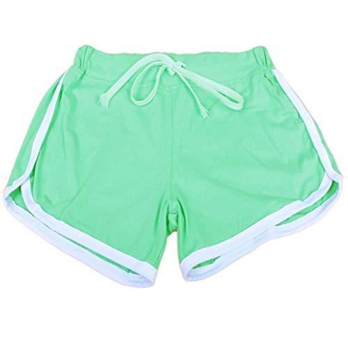 WICHENG Femmes Sport Yoga Shorts Workout Fitness Course Sport Femme Shorts Coton Taille Haute Gym Vélo Sport Shorts (Couleur : LW, Size : L)