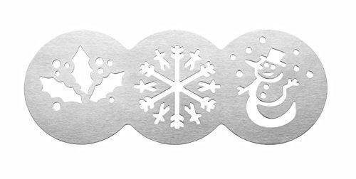 Tala-Pirottini per Cupcake, motivo: Natale, Fiocco di neve, agrifoglio, Pupazzo di neve