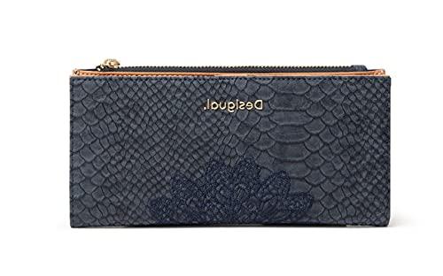 Desigual Long Wallet, Travel Accessory-Cinturón de Viaje para Mujer, Azul, U