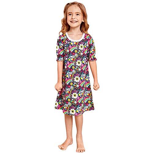 BeedooDoobee Vestido de playa de Caual para niña de 2 a 6 años de verano para niños, 100% algodón pijama camisón - - 120 cm