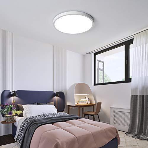 Luces de techo LED, delgadas, planas y modernas, 6500 K, luz blanca fría, para comedor, pasillo, cocina, dormitorio, dormitorio, grosor de 2.4 cm