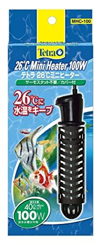 テトラ (Tetra) 水槽 26℃ミニヒーター 100W 安全カバー付 熱帯魚 金魚 メダカ アクアリウム