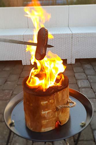 Schwedenfeuer – Finnenfeuer – Baumstammfackel - Ø 23cm - Partyfackel - Brenndauer 2 Stunden