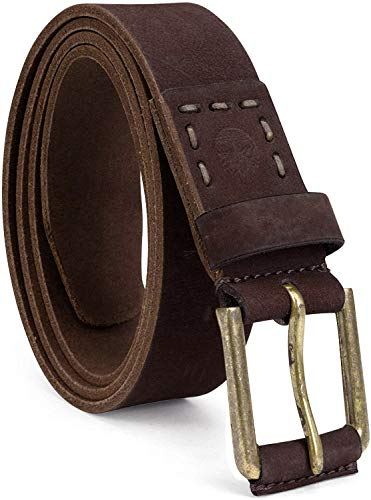Timberland Men's Casual Leather Belt, Dark Brown, 38