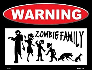 Losea Zombie Family Metal Sign Retro Home Decoration Vintage Tin Sign Posters for Bar Pub Home 12 X 8 Inch