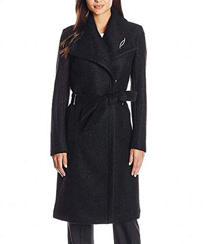 Ivanka Trump Women's Boucle Pin Coat, Black, 6