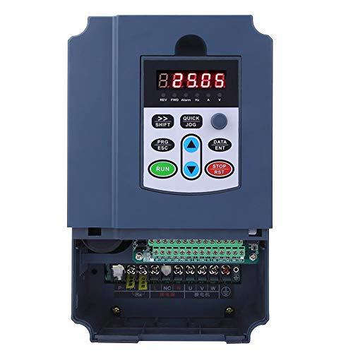 Inversor de frecuencia variable de 4KW 220VAC, entrada monofásica Variador de frecuencia trifásico Variador CNC VFD Convertidor de variador de velocidad para motor de husillo Control de velocidad