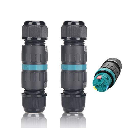 Conector de cable estanco IP68 2-pack Ø4mm-Ø12mm Certificación TÜV Manguito de conexión...