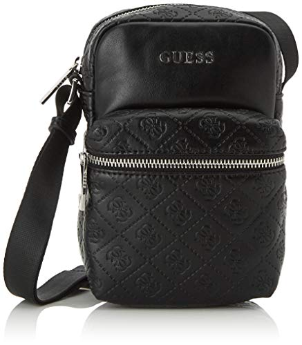 Guess Herren Dab 4g Embossed Smart Case schultertasche, Schwarz (Black), 2, 5x19x11 Centimeters