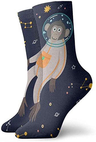 Cosmos Flowers Seamless Pattern Fashion Dress Socks Short Socks Leisure Travel 11.8 Inch