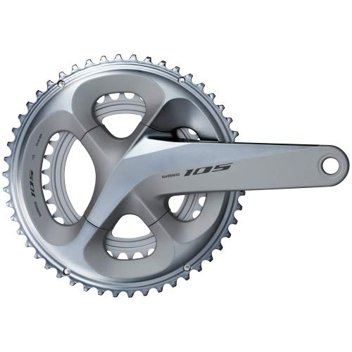SHIMANO 105 Double Road Bicycle Crank Set - FC-R7000 (Silver - 170MM, 53-39T W/O CG, W/O BB Parts)