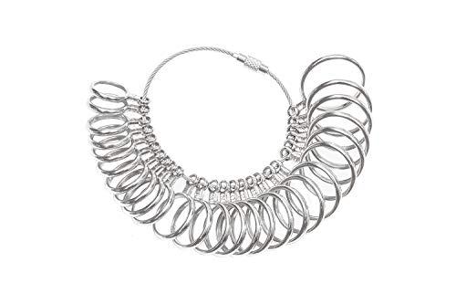 DoGeek Ringstock Metall Ringmaß Ringmesser Kostenlos Ringdorn Set/UK, EU, USA und Switzerland (Metall-Ring only)