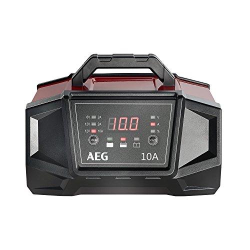 AEG Automotive 158008 Cargador de Taller WM 10 amperios para baterías de 6 y 12 voltios, con función de Arranque automático, CE, IP 20