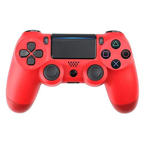 TOPmontain Controlador sem fio para PS4, controlador de jogo para Playstation 4 / Pro/Slim, joystick de gamepad com vibração dupla/giroscópio de seis eixos/conector de áudio/alto-falante,vermelho