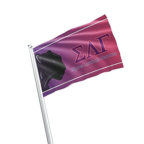 greeklife.store Sigma Lambda Gamma lizenzierte Fahne 3x152 cm für Zuhause, Gewerbe, Keller, Garage. Haltbare Metallösen zum Aufhängen, 100% Polyester, Bedruckt.