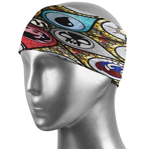 Emonye MTG Stained Glass Unisex Hairband Highly Absorbent Non-Slip Sweatbands, Super Soft Stretchy Bandana Headband