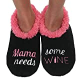 Snoozies Pairables Womens Slippers - House Slippers - Mama Needs Wine - Medium