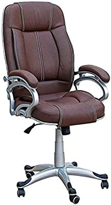 Daintree Lilly High Back Office Chair (Rustic Finish, Brown)