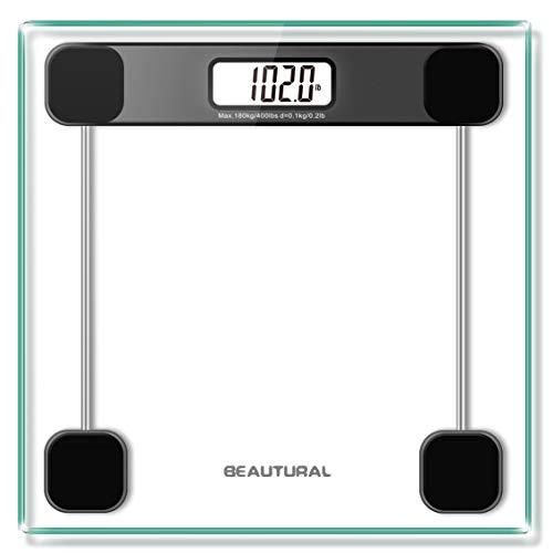 Nero 150kg DIGITALE ELETTRONICA LCD VETRO SCALE Corpo Bagno aiuta a perdere grasso