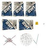 5 x BWT PERLA TABS Regeneriersalz 25 Kg von VMS-Vertriebcenter in Kissenform, keine Scheiben, inkl. sanvo Mehrzwecktuch zum Reinigen Ihrer Anlage