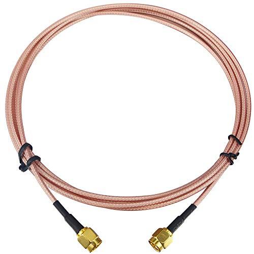 Kaunosta Cable SMA de 2 m SMA macho a SMA macho HF coaxial cable alargador para la entrada de antena del sistema de seguridad RG316 puente de alambre
