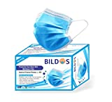 Bildos 3 Ply CE,ISO & GMP Certified Face Masks with Adjustable Nose Clip and Ultrasonic sealed ear loop With Melt blown Layer to assure BFE95% (100)
