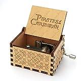 HPPL: Caja de música con manivela grabada Antigua, Regalo de San Valentín, Regalo de cumpleaños, Pirate 09