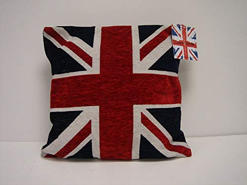 Rapport Stunning Thick Heavyweight Chenille RED White Blue Union Jack 18' CUSH, mixed, Multi-Colour, 45x45cms