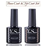 Gel Top et Base Coat - Y&S UV LED Vernis à Ongles Gel Soak Off Nail Polish 2 x 10ml