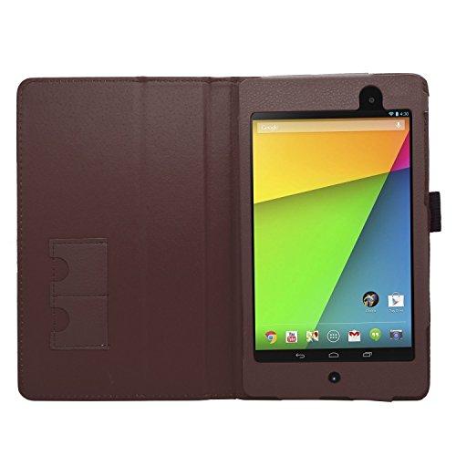SAMRICK Executive - Funda para ASUS Google Nexus 7 II (Piel, función Atril) marrón marrón Nexus 7 II (2nd Gen) - 2013 Version
