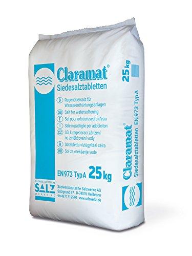 Claramat Siedes Alzt Tablets/Regeneratie Zout/Zout Tabletten 25kg Zak