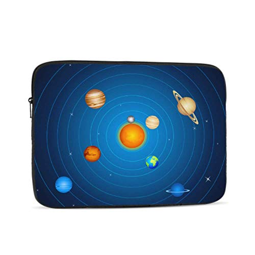 Amazing Solar System Space Pattern 10' Inch Laptop Sleeve Case Bag Compatible with Apple MacBook Air Pro Dell Lenovo Samsung Asus Computer Tablet Or Ipad