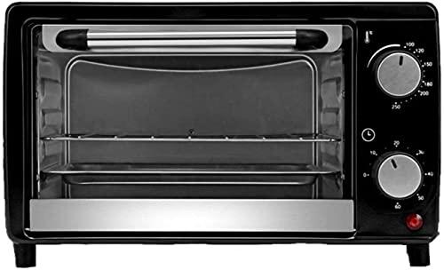 Horno de contador, 12 litros Capacidad 100-250 ° Control 60 minutos Potencia de tiempo 800W, pan desayuno Máquina para hornear Horno pequeño para hornear para el hogar, 220V